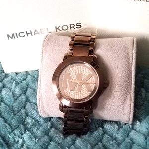 Michael Kors MK6534 - Chocolate Sable Pave Watch